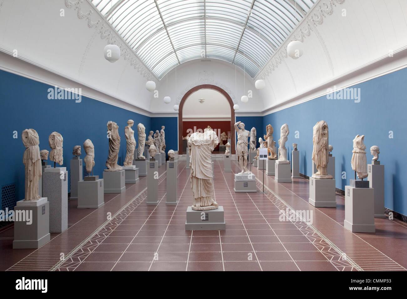 L'intérieur, NY Carlesberg Glyptotek Art Museum, Copenhague, Danemark, Scandinavie, Europe Banque D'Images