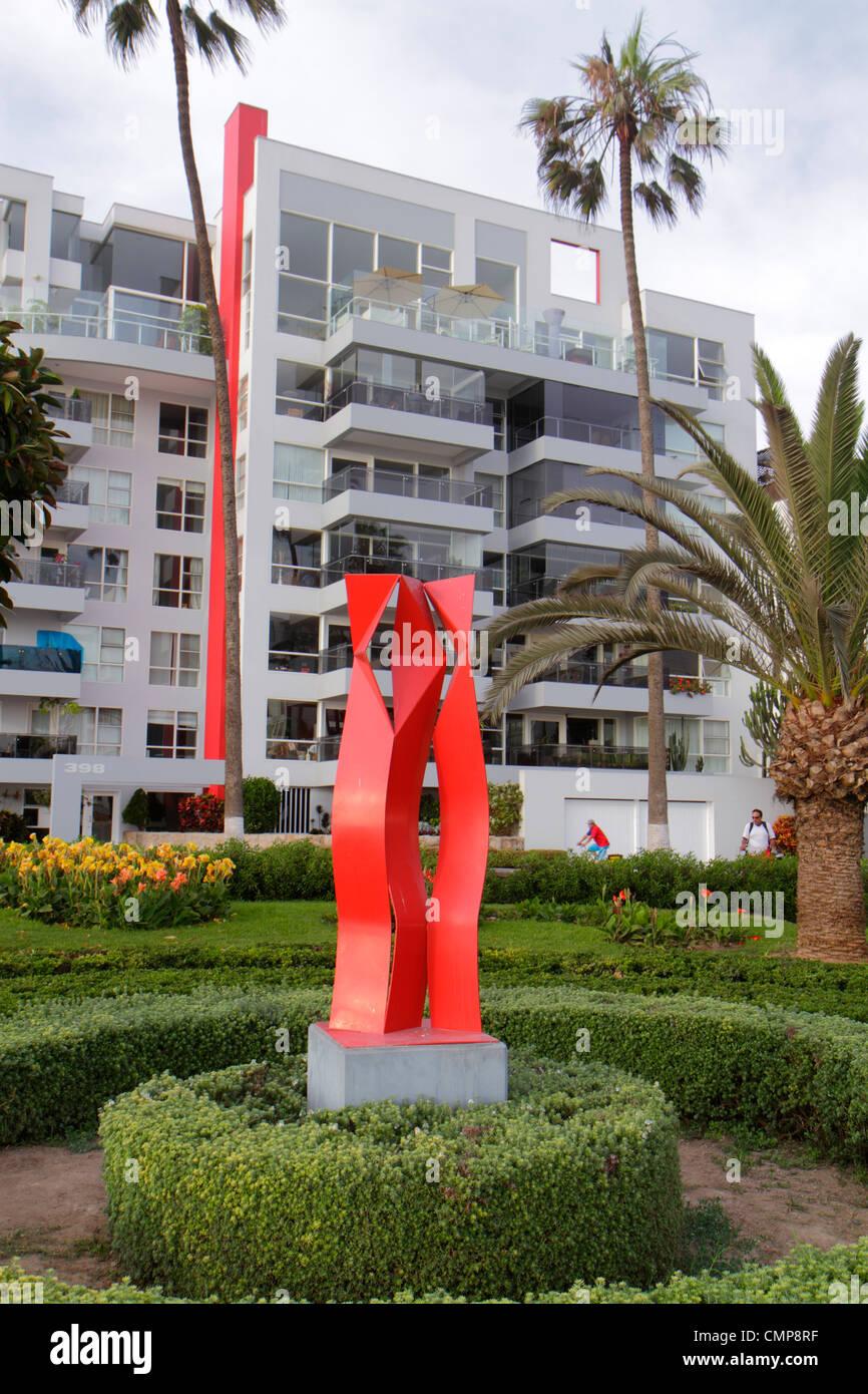 Lima Pérou Barranco District Malecon Souza Parque Diez Conseco parc public jardin aménagement paysager Photo Stock