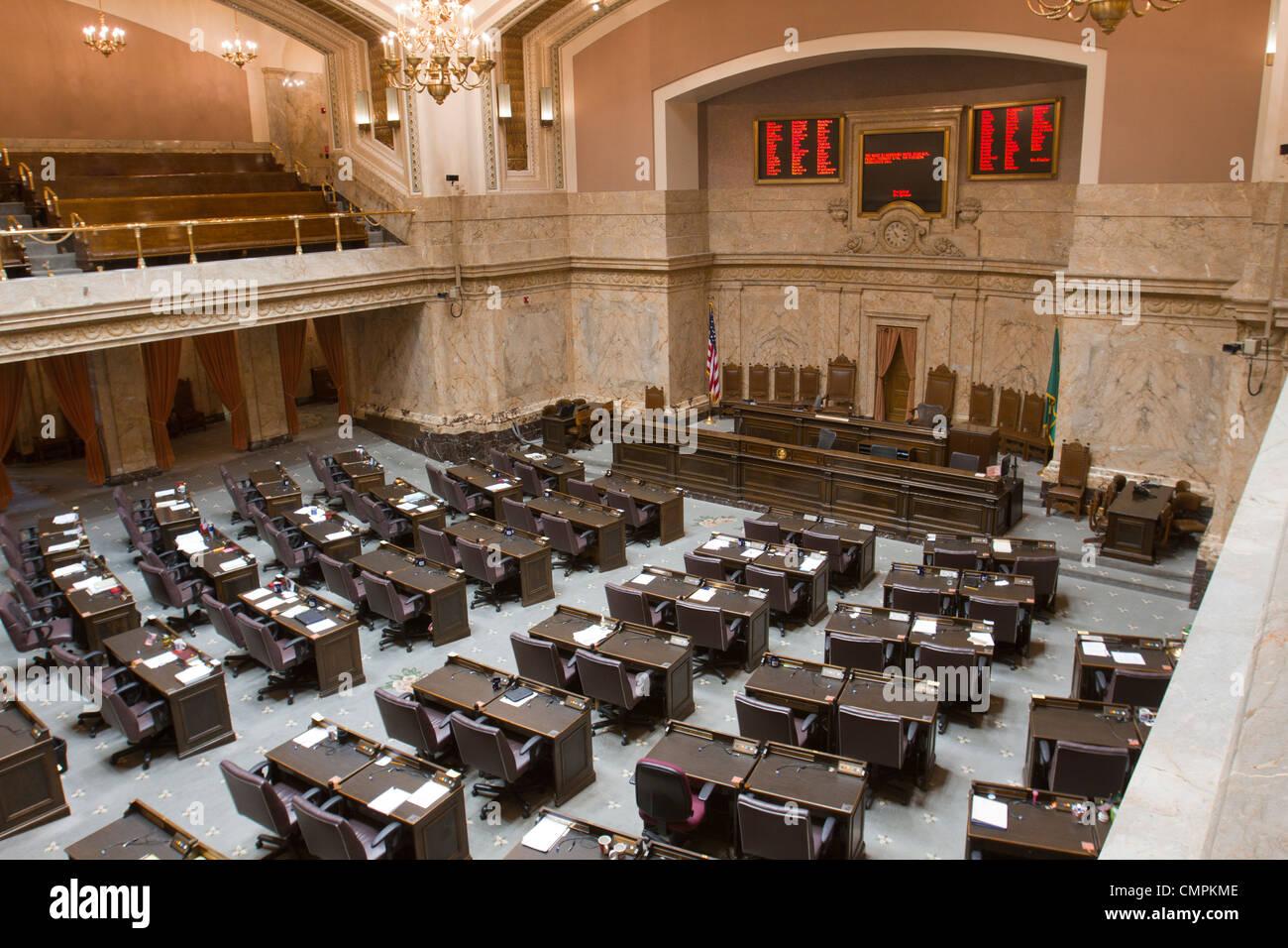 Chambre des représentants dans le Washington State Capitol building, à Olympie Banque D'Images