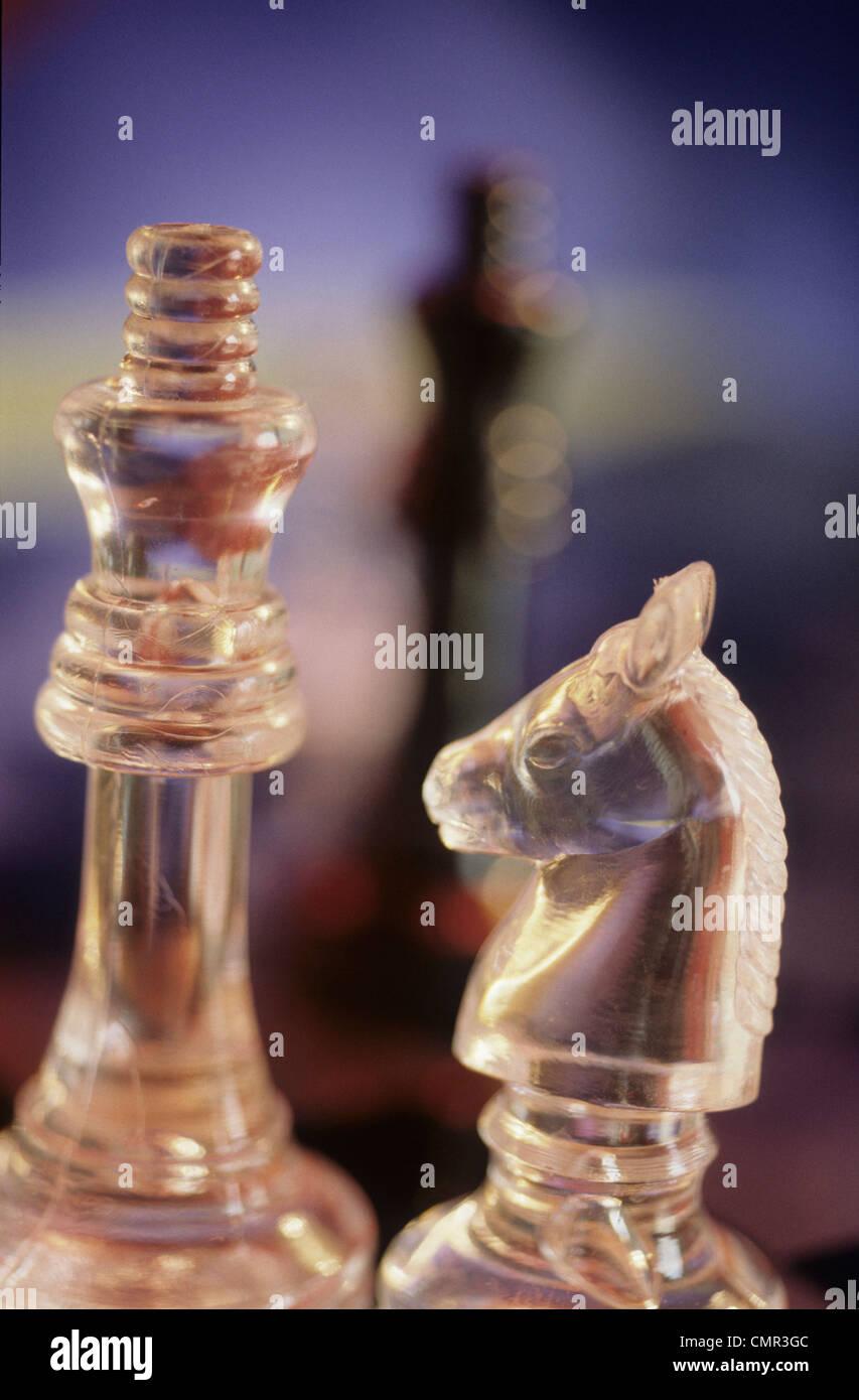 Stratégie de jeu d'échecs concept Photo Stock