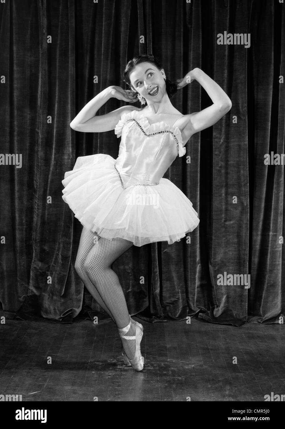 1950 BALLERINE SUR LES orteils Photo Stock
