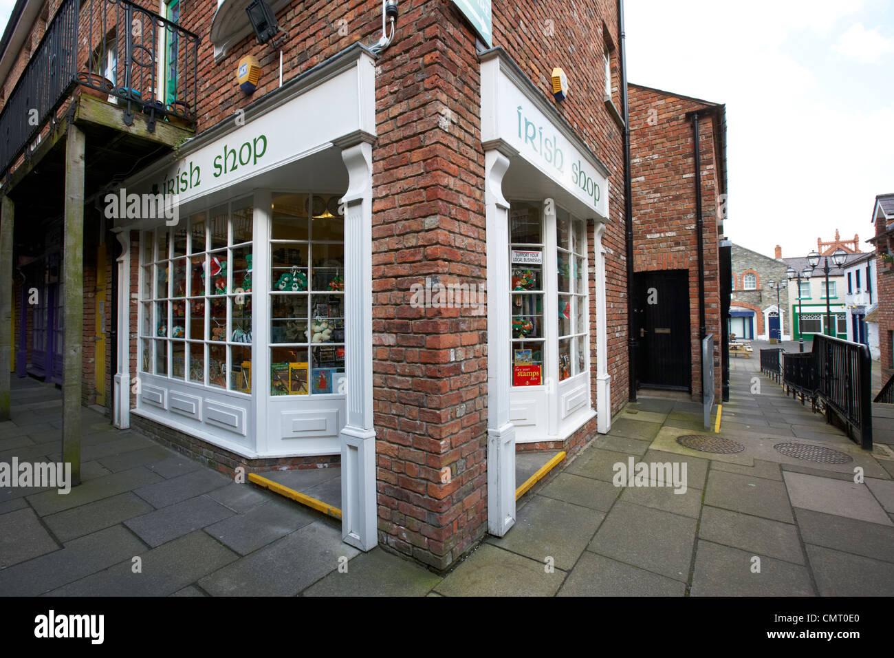 Boutique de souvenirs irlandais de Derry derry village artisanal le comté de Londonderry en Irlande du Nord Photo Stock