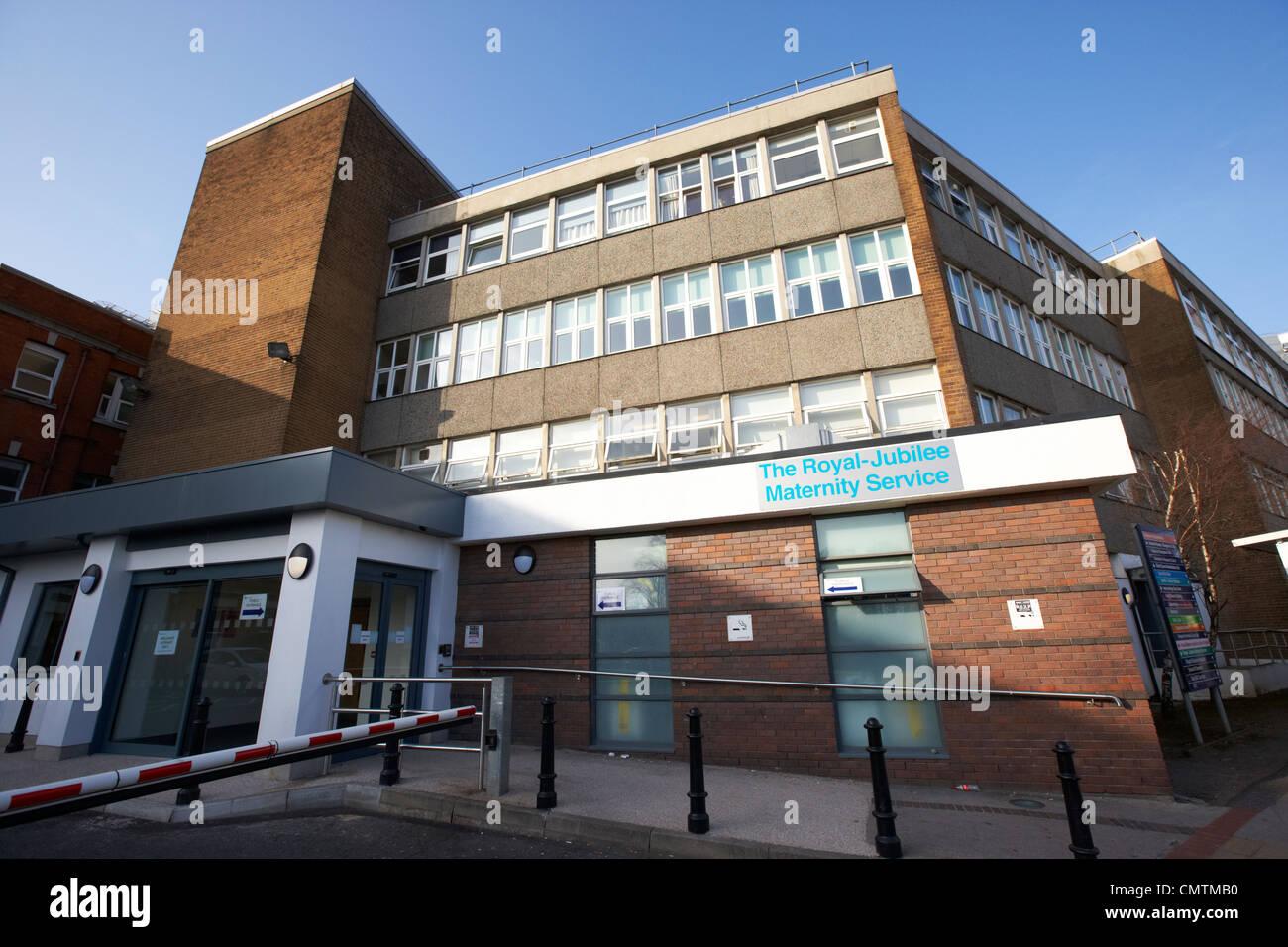 Les services de maternité du jubilé royal part de l'hôpital Royal Victoria, l'ouest de Belfast Photo Stock