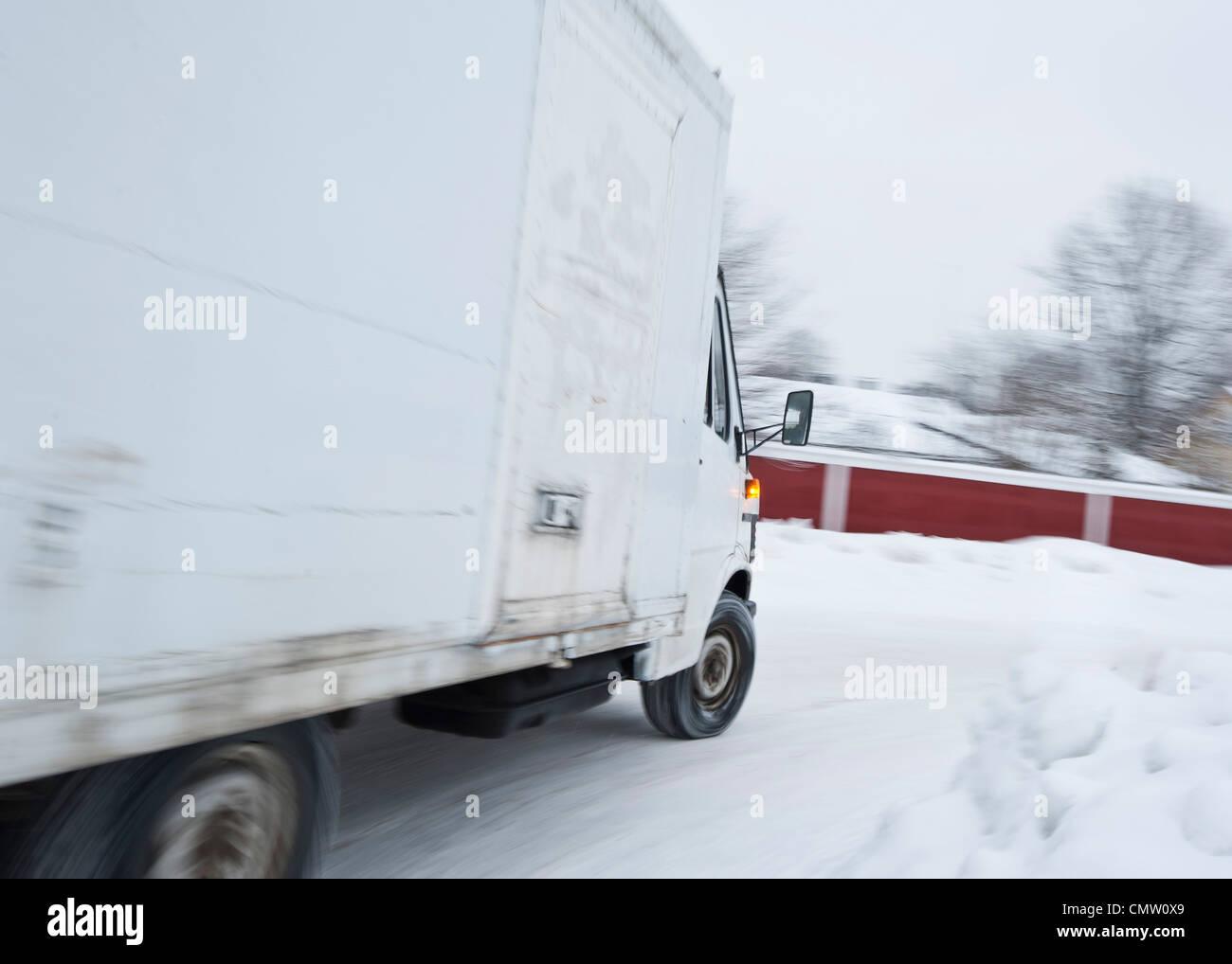 Rendez-vous sur la camionnette Photo Stock
