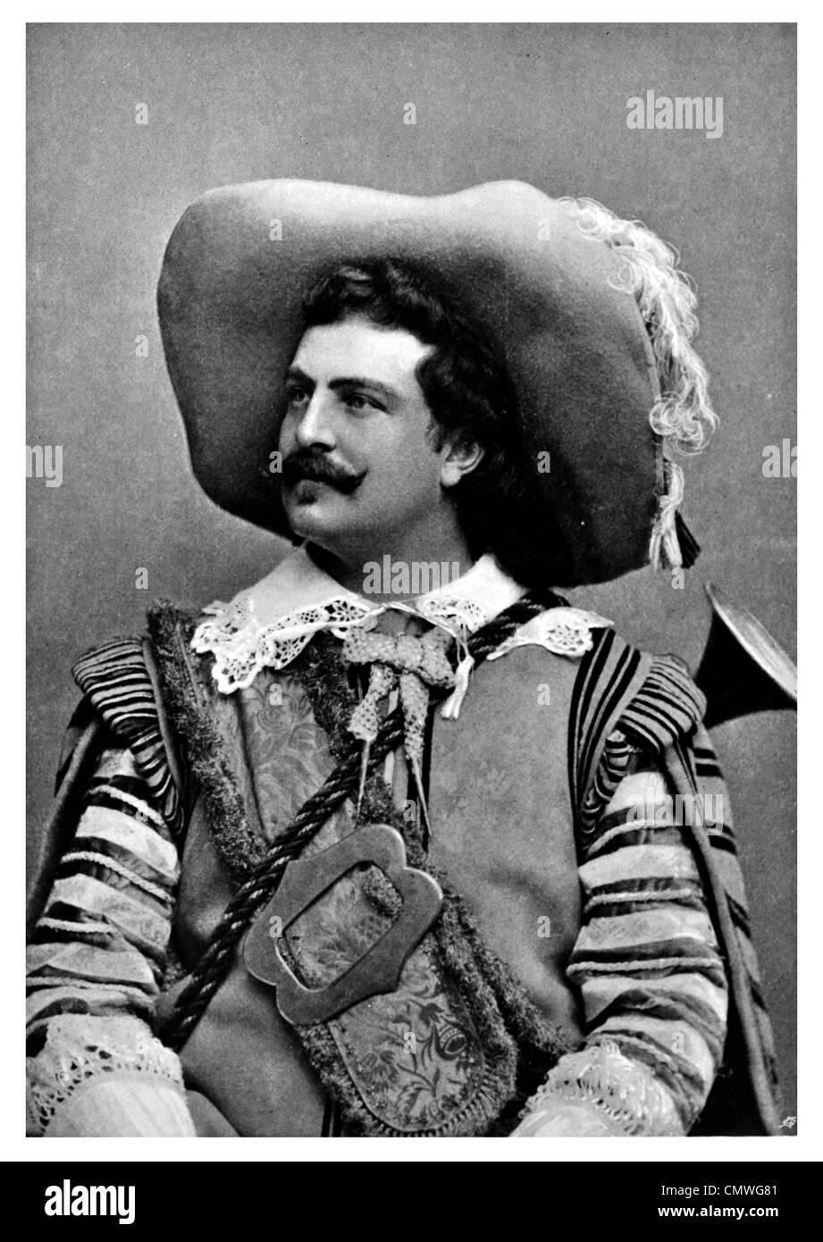 1905 étude portrait Mousquetaire Photo Stock