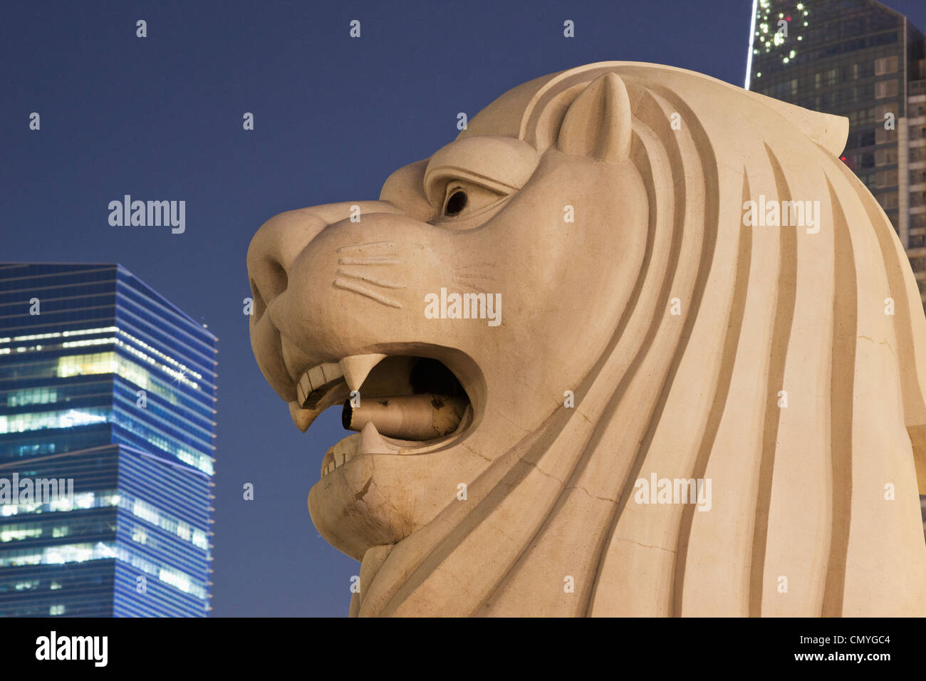 Statue du Merlion, Singapour Banque D'Images