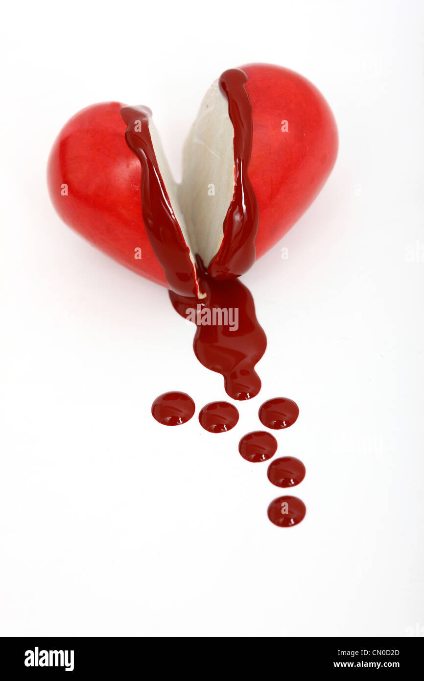 Image symbolique, la maladie cardiaque, crise cardiaque, la protection, la prévention, la cardiologie. La purge, Photo Stock