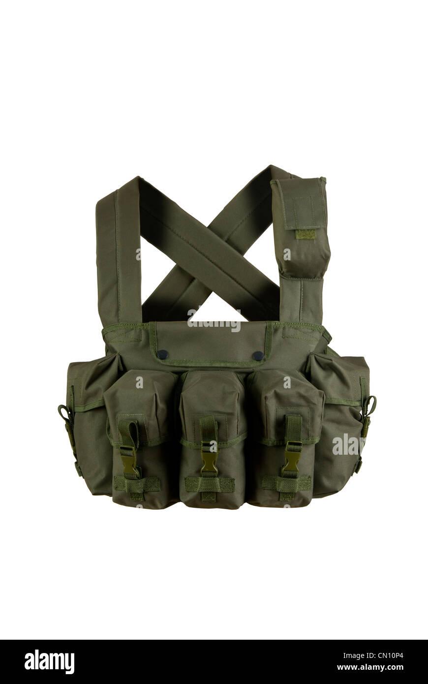 Gilet tactique militaire,,capot,isolé,isolation, Photo Stock