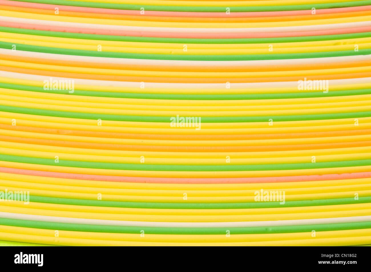 Des bandes de bonbons multicolores Photo Stock