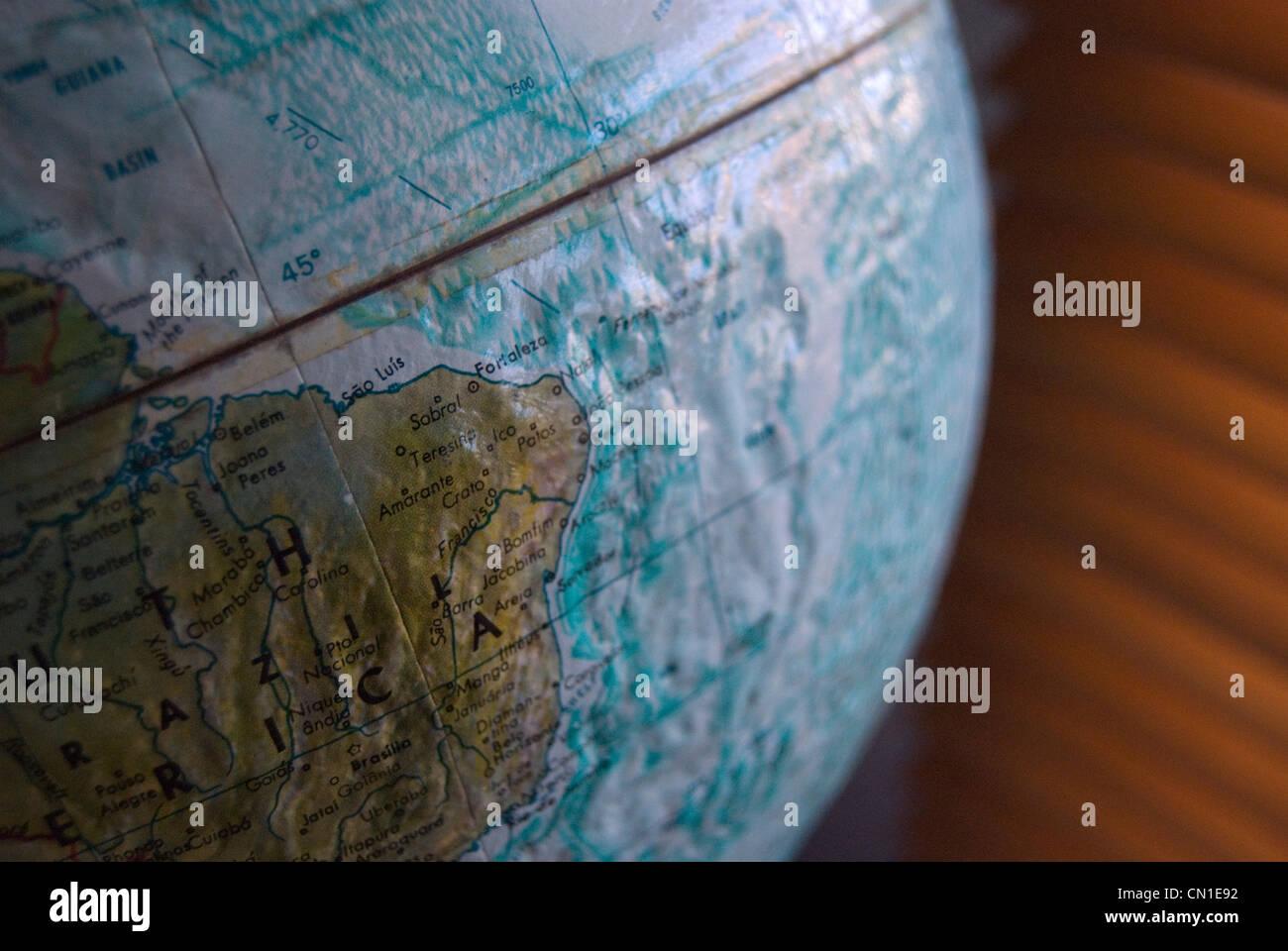 Globe, gros plan Photo Stock