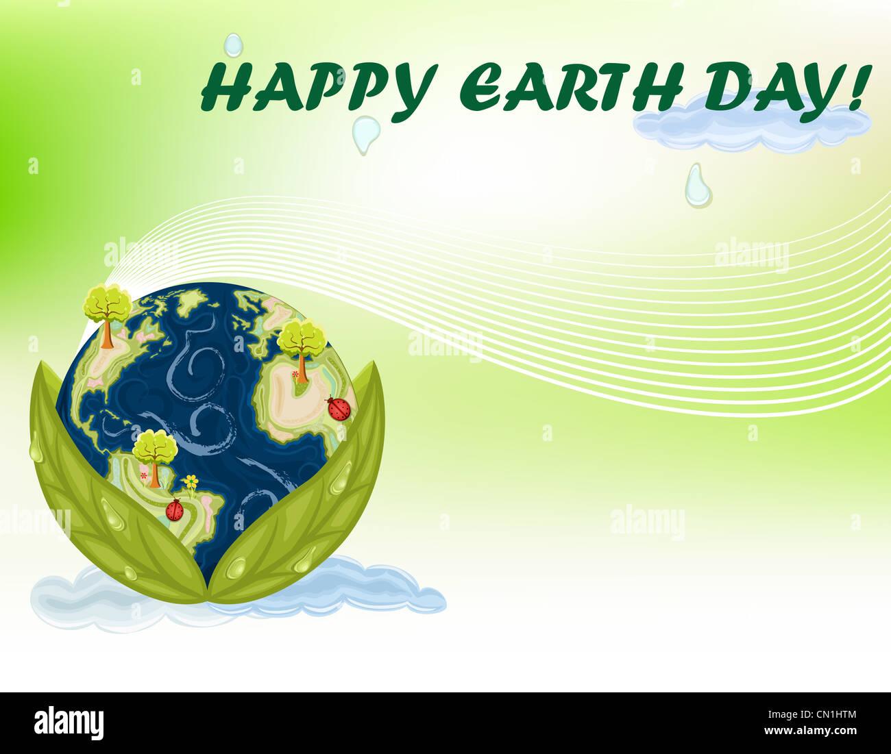 Le jour de la Terre - 22 avril célébration internationale. Photo Stock