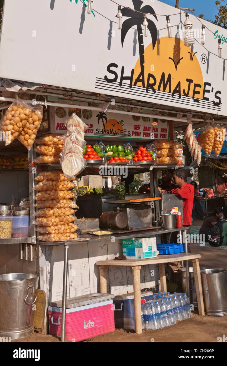 Street kitchen Chowpatty Beach Bombay Mumbai Inde Photo Stock