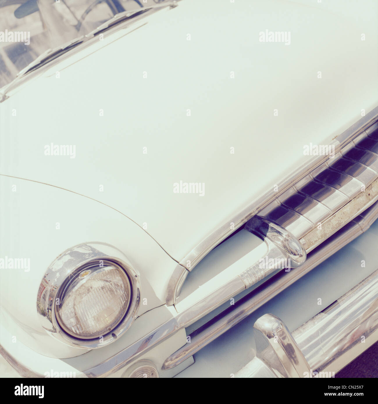 Vintage car, Close up Photo Stock