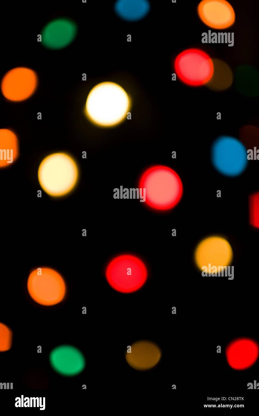 Les lumières électriques multicolores, résumé Photo Stock