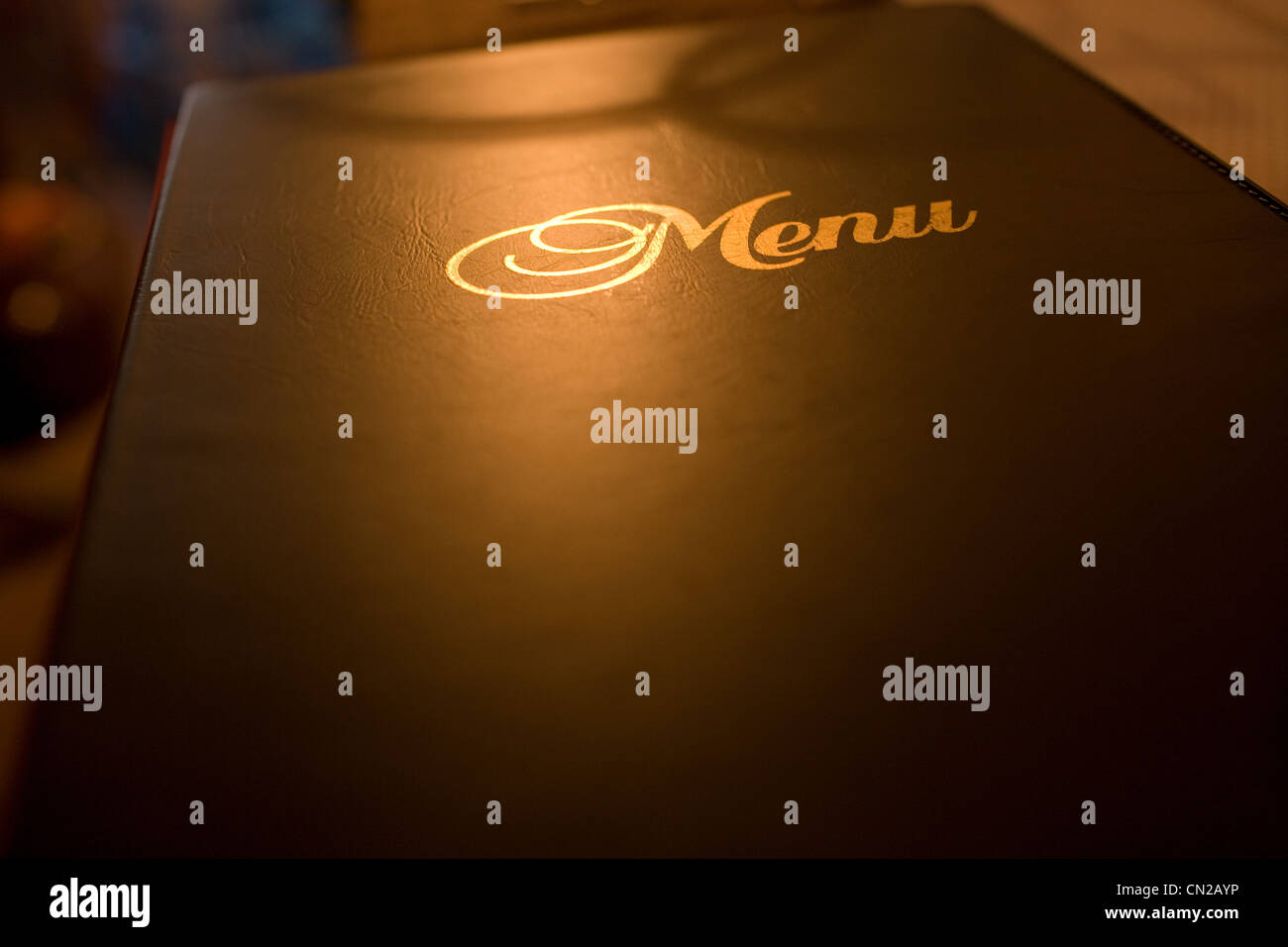 Menu, gros plan Photo Stock