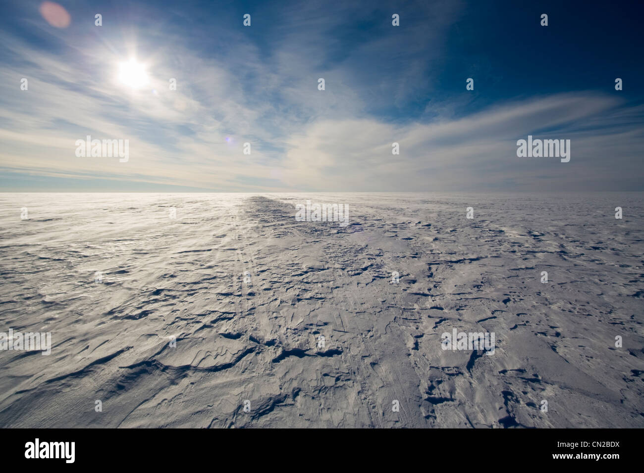 Paysage arctique toundra polaire - ice cap, Groenland Photo Stock
