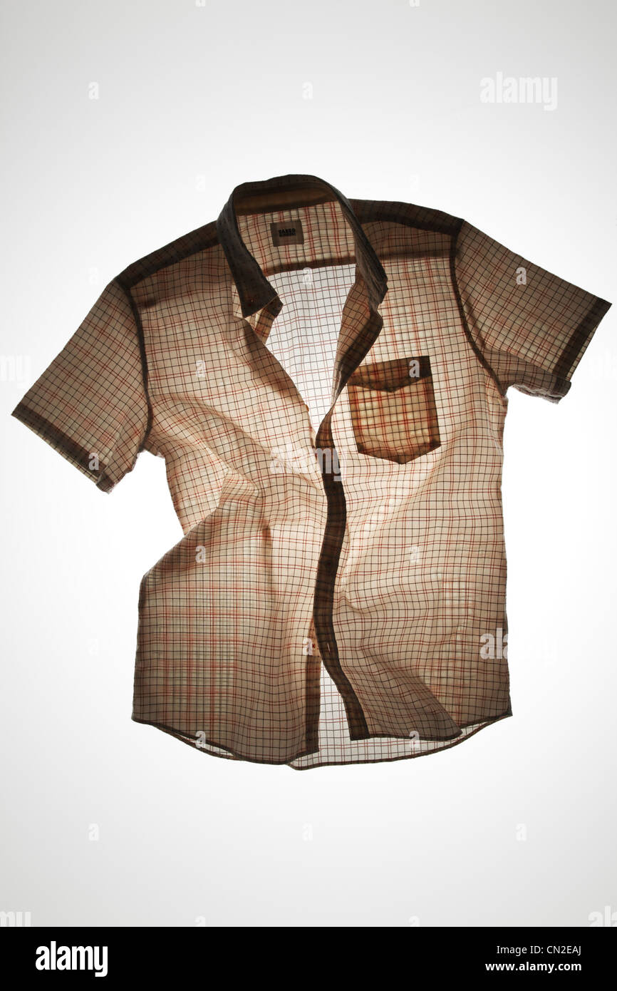 Short-Sleeve Plaid Shirt Photo Stock