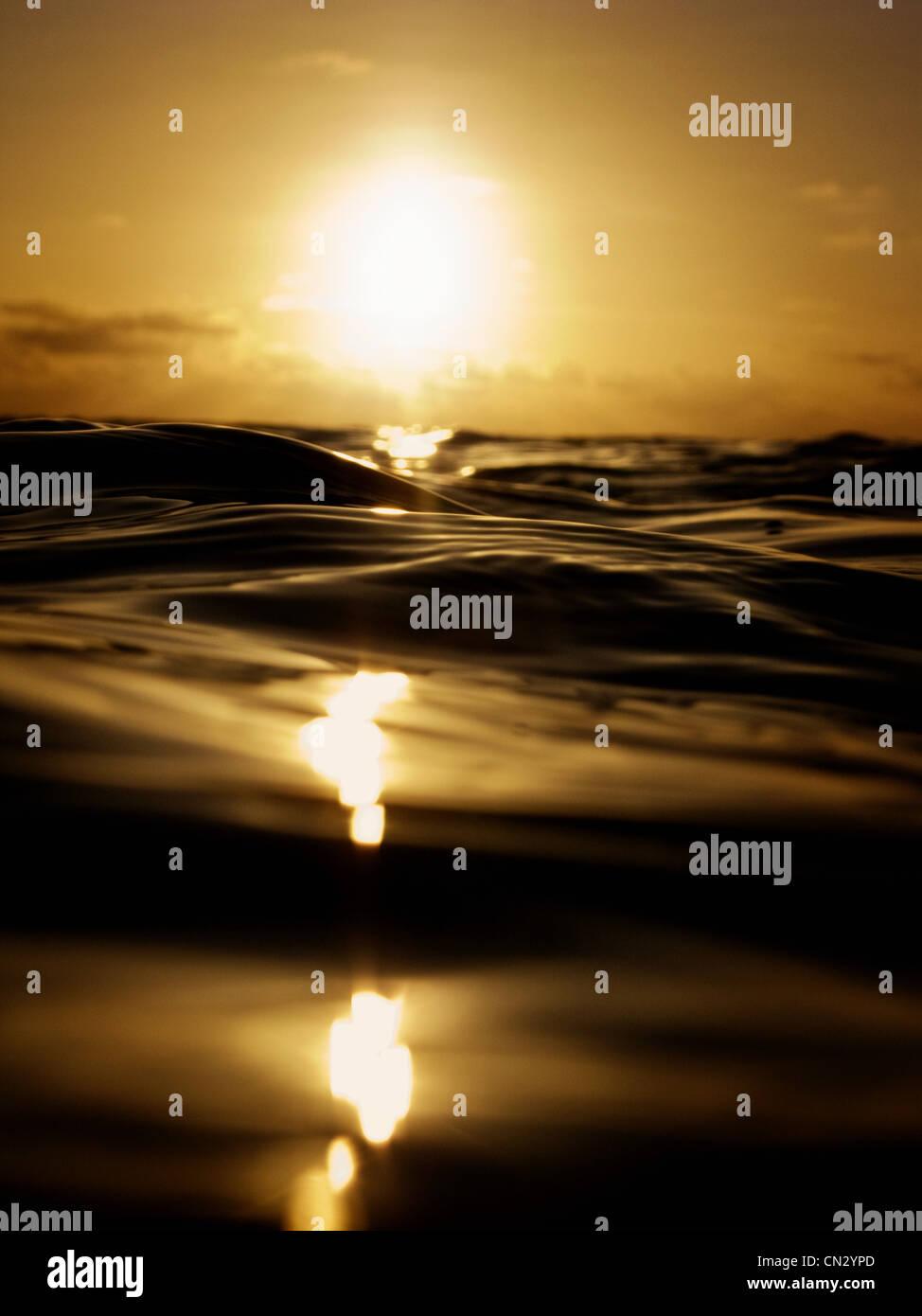 Coucher de soleil sur seascape Photo Stock