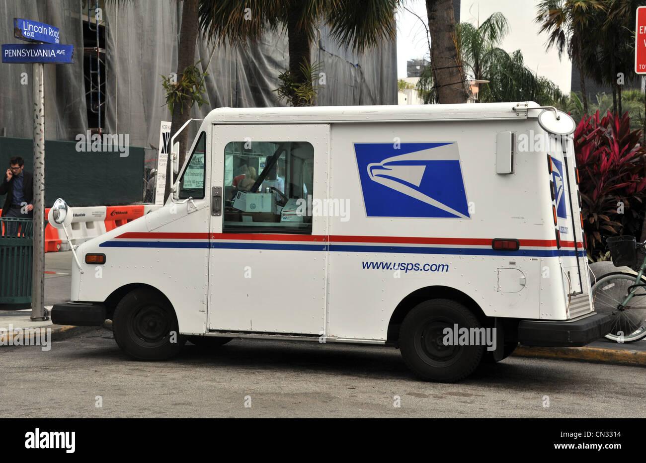 United States Postal Service delivery van, USA Banque D'Images