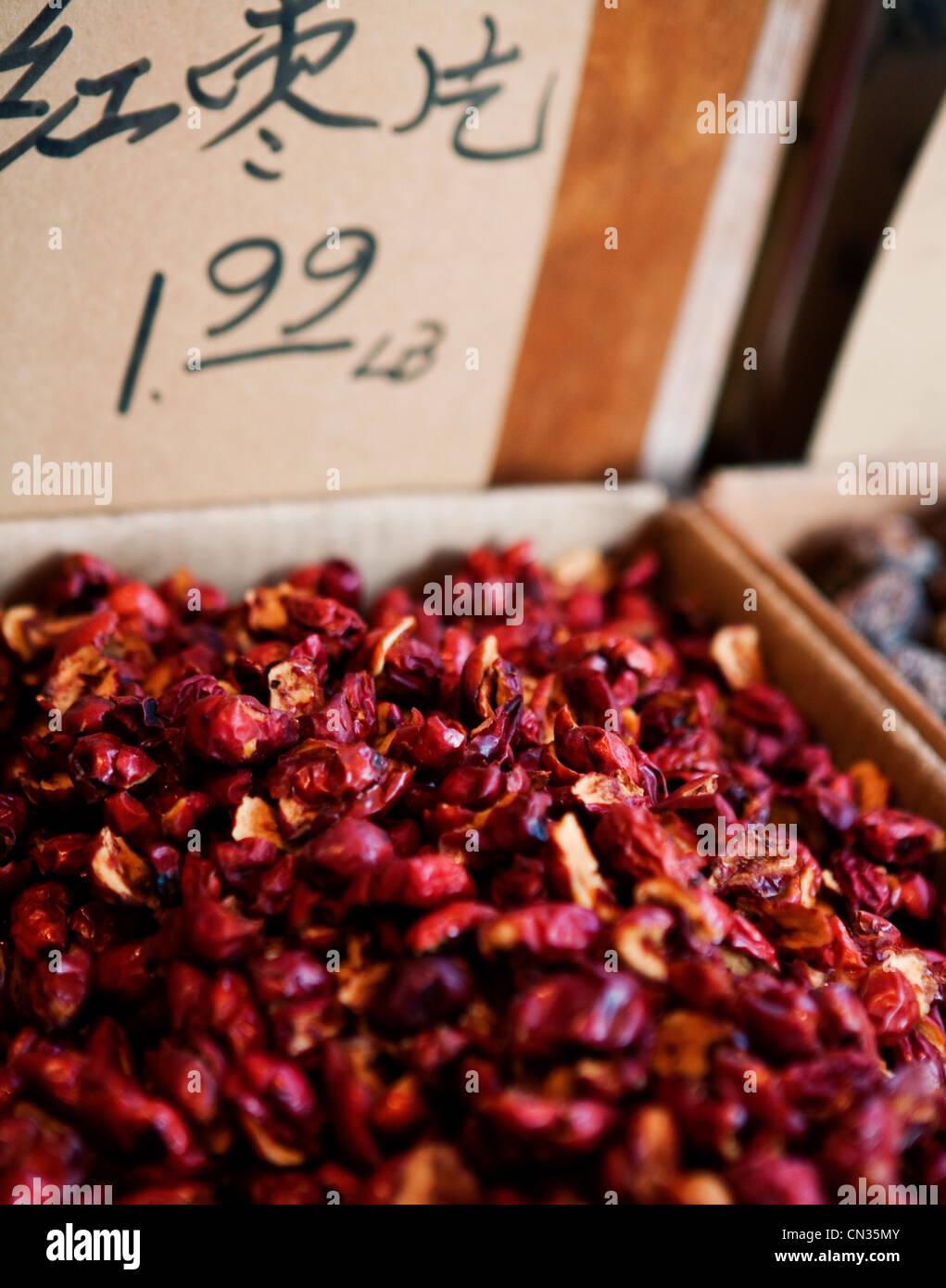 Les marchandises pour la vente en Chine Marché de la ville Banque D'Images
