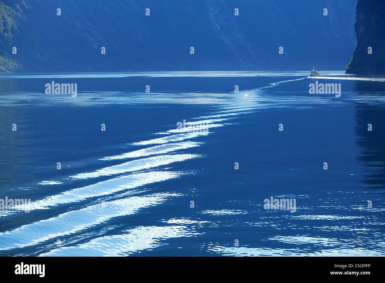 La Norvège, Sunnmore Région, More og Romsdal County, Geirangerfjord classé au Patrimoine Mondial Photo Stock