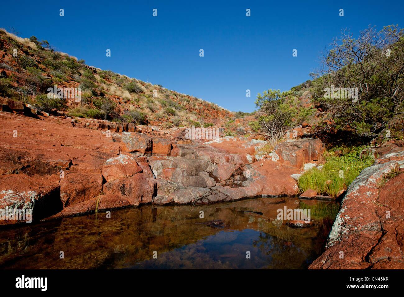 Piscine Rock Chaîne Gawler Australie du Sud Photo Stock