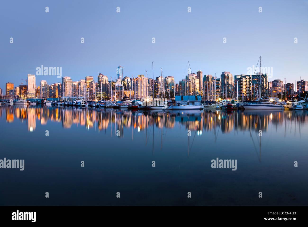 L'horizon du parc Stanley de Vancouver Photo Stock