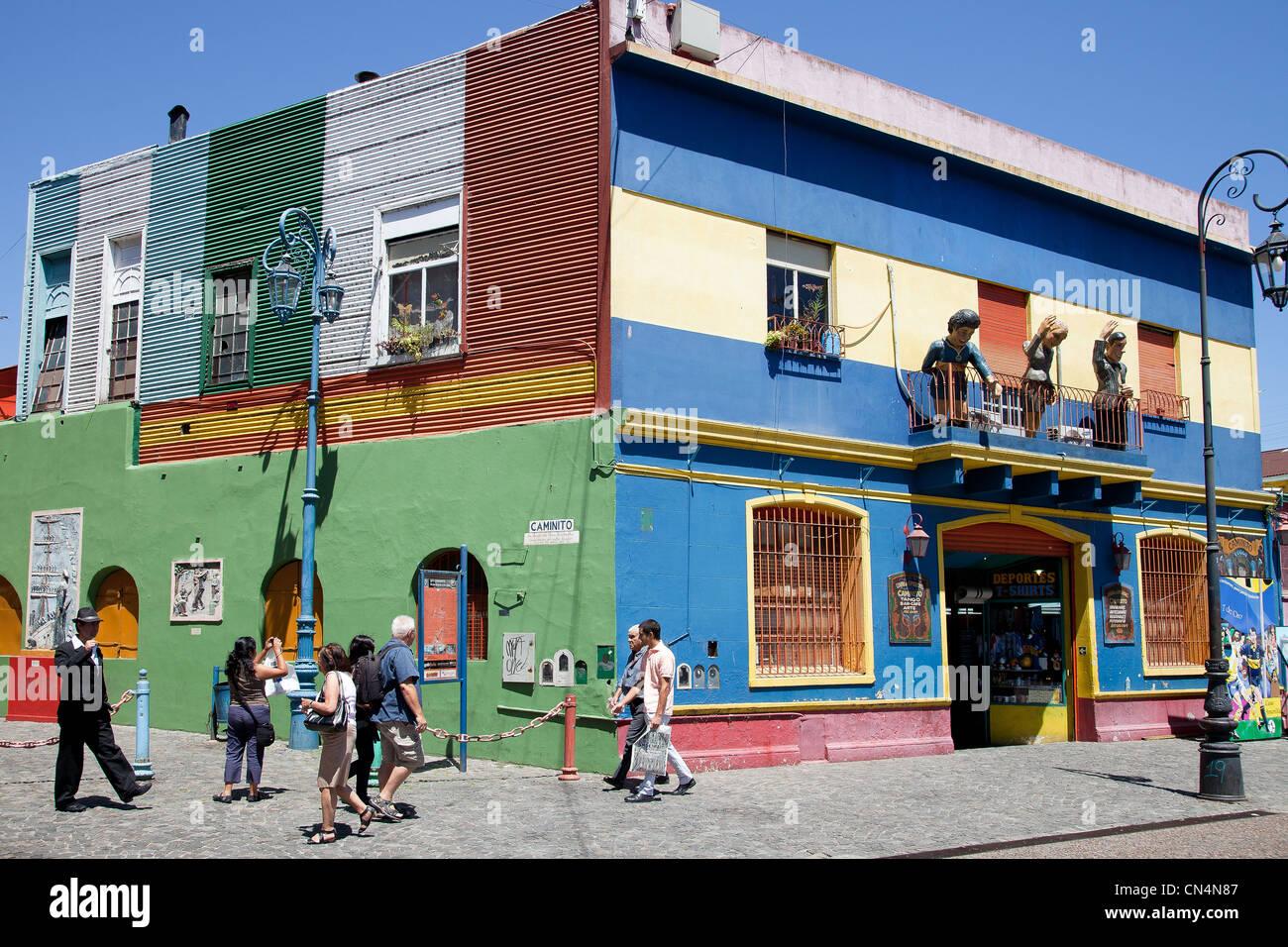 L'ARGENTINE, Buenos Aires, La Boca Caminito, quartier Photo Stock