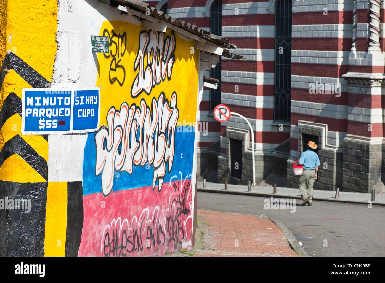 La COLOMBIE, Bogota, département de Cundinamarca, quartier de La Candelaria Photo Stock