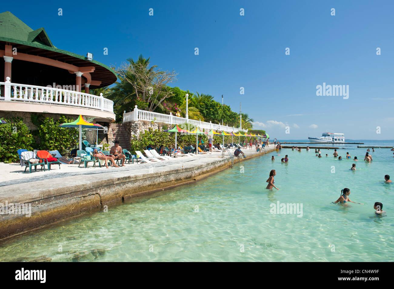 La Colombie, Département de Bolivar, le Parc National Naturel de Islas del Rosario (les îles coralliennes Photo Stock