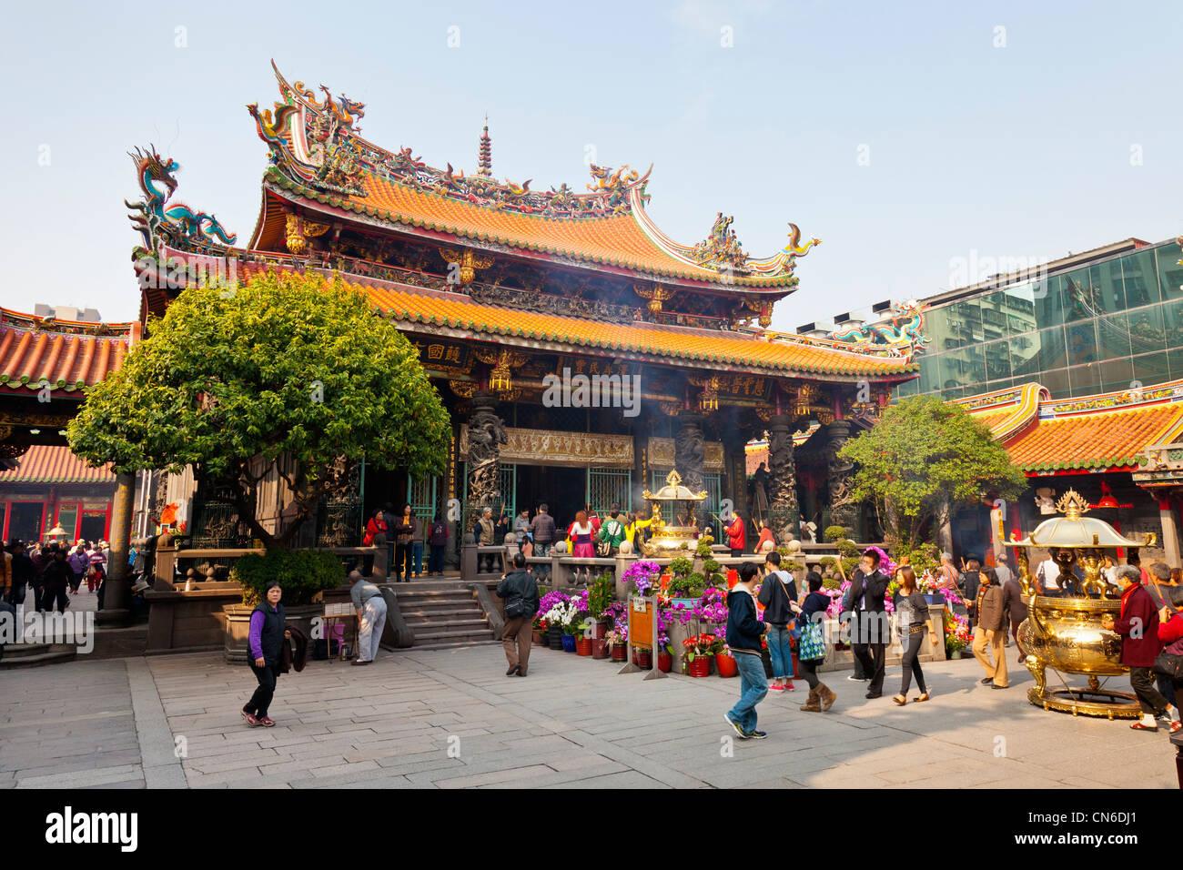 Ou de Longshan Temple Lungshan Taipei Taiwan. JMH5714 Photo Stock