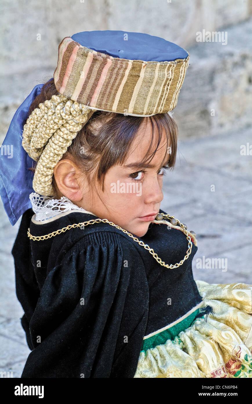Italie Abruzzes Province, og Aquila Scanno costumes traditionnels Banque D'Images