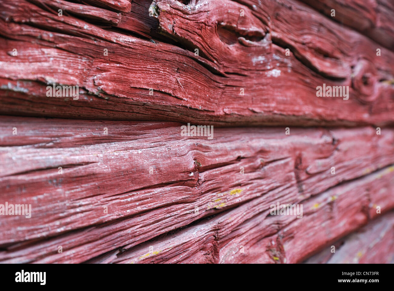 Close-up of mur de planches Photo Stock