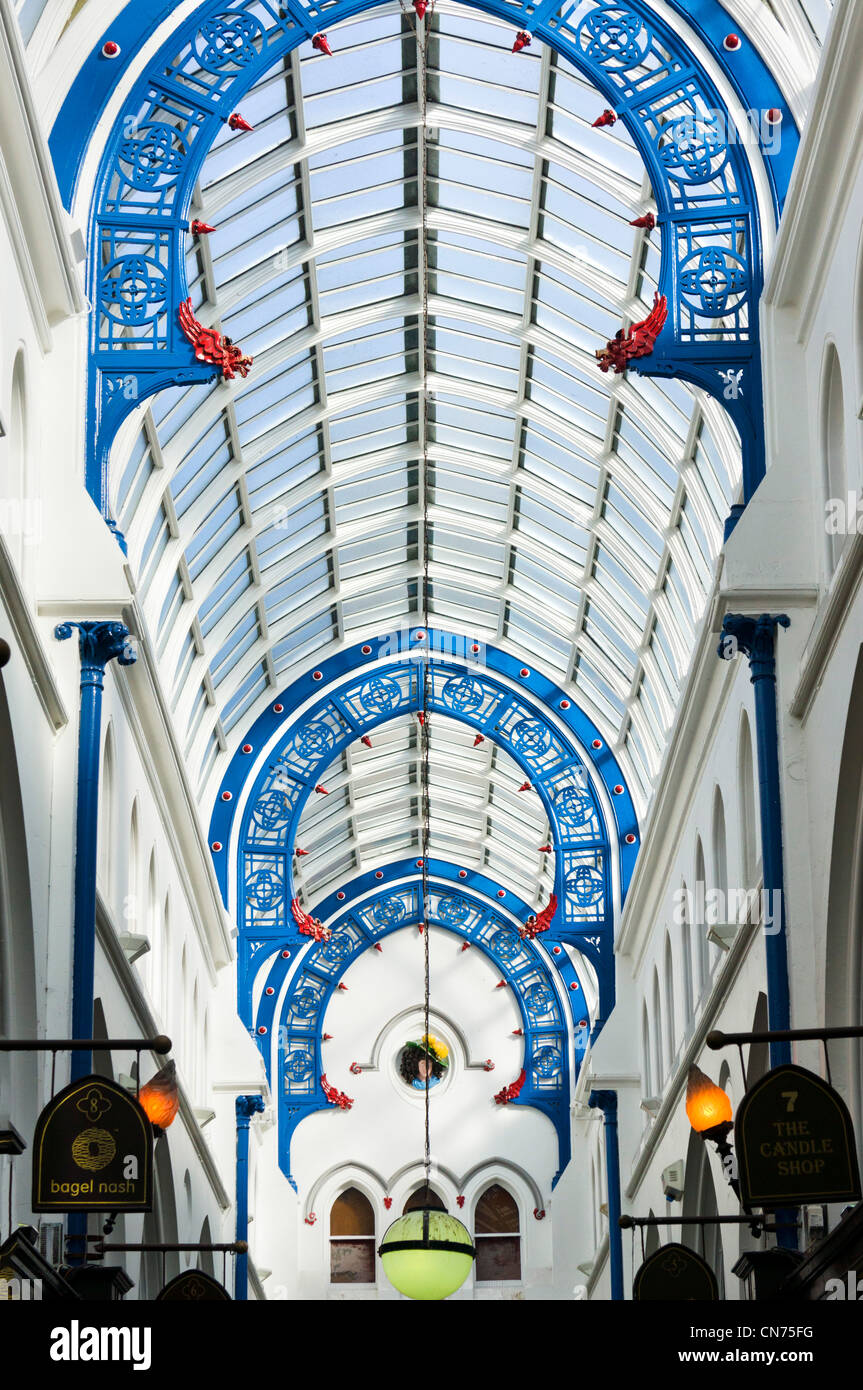 Toit de Thornton's Arcade, Briggate, Leeds, West Yorkshire, Angleterre Photo Stock