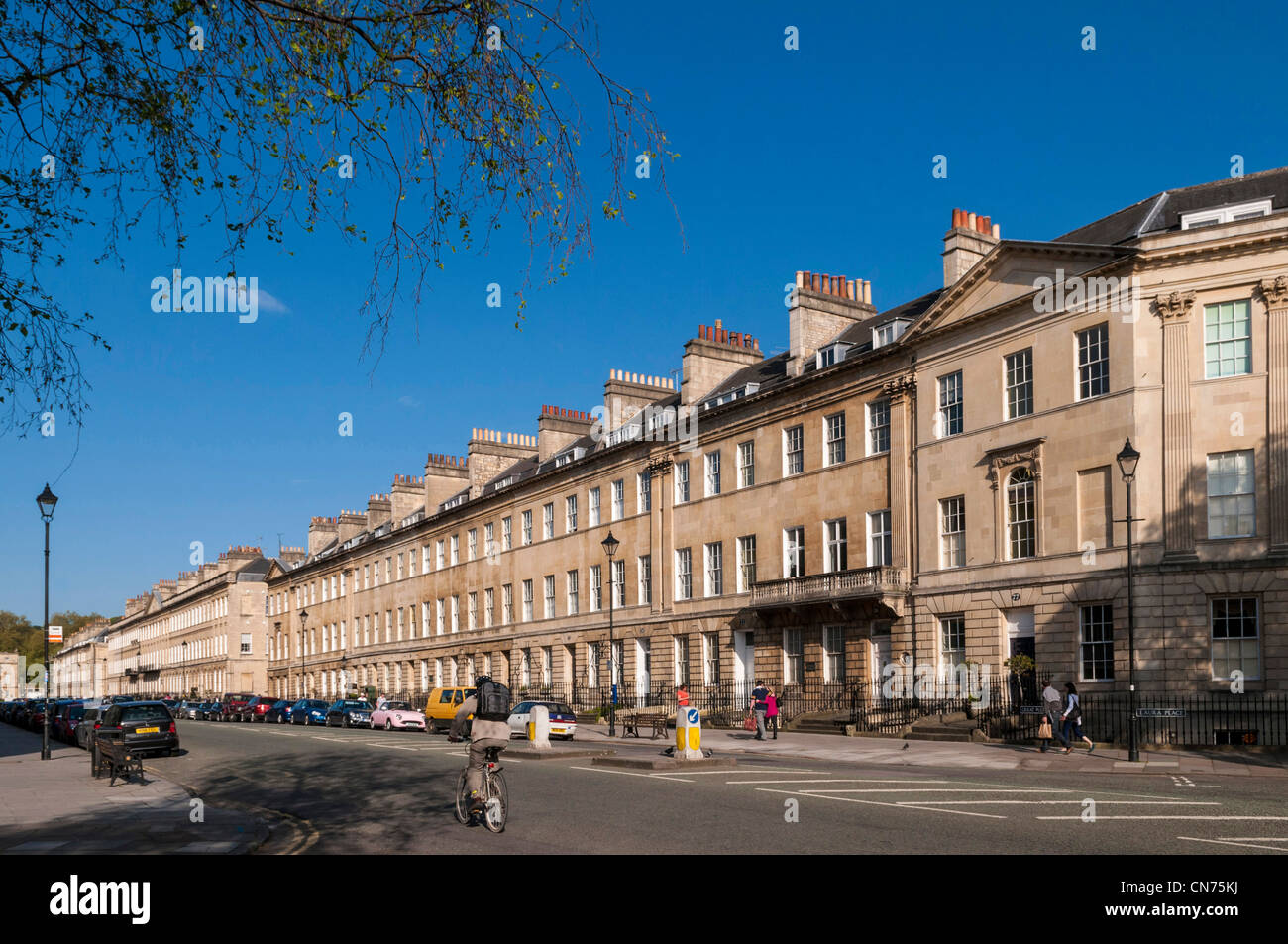 Bath, Angleterre, Royaume-Uni - Argyle Street Photo Stock