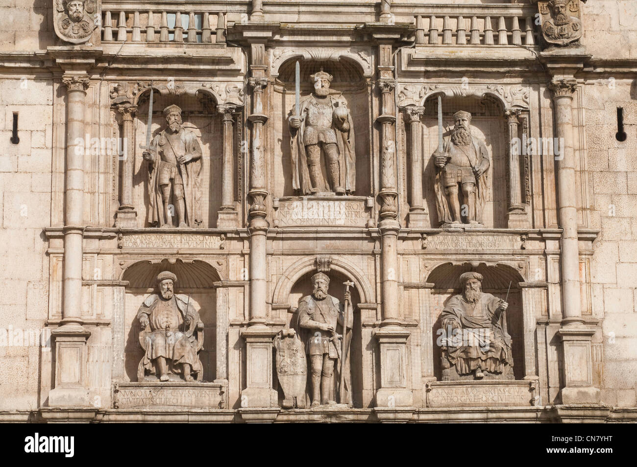L'Espagne, Castille et Leon, Burgos, Gate Santa Maria, en date du 14-15e siècles Photo Stock