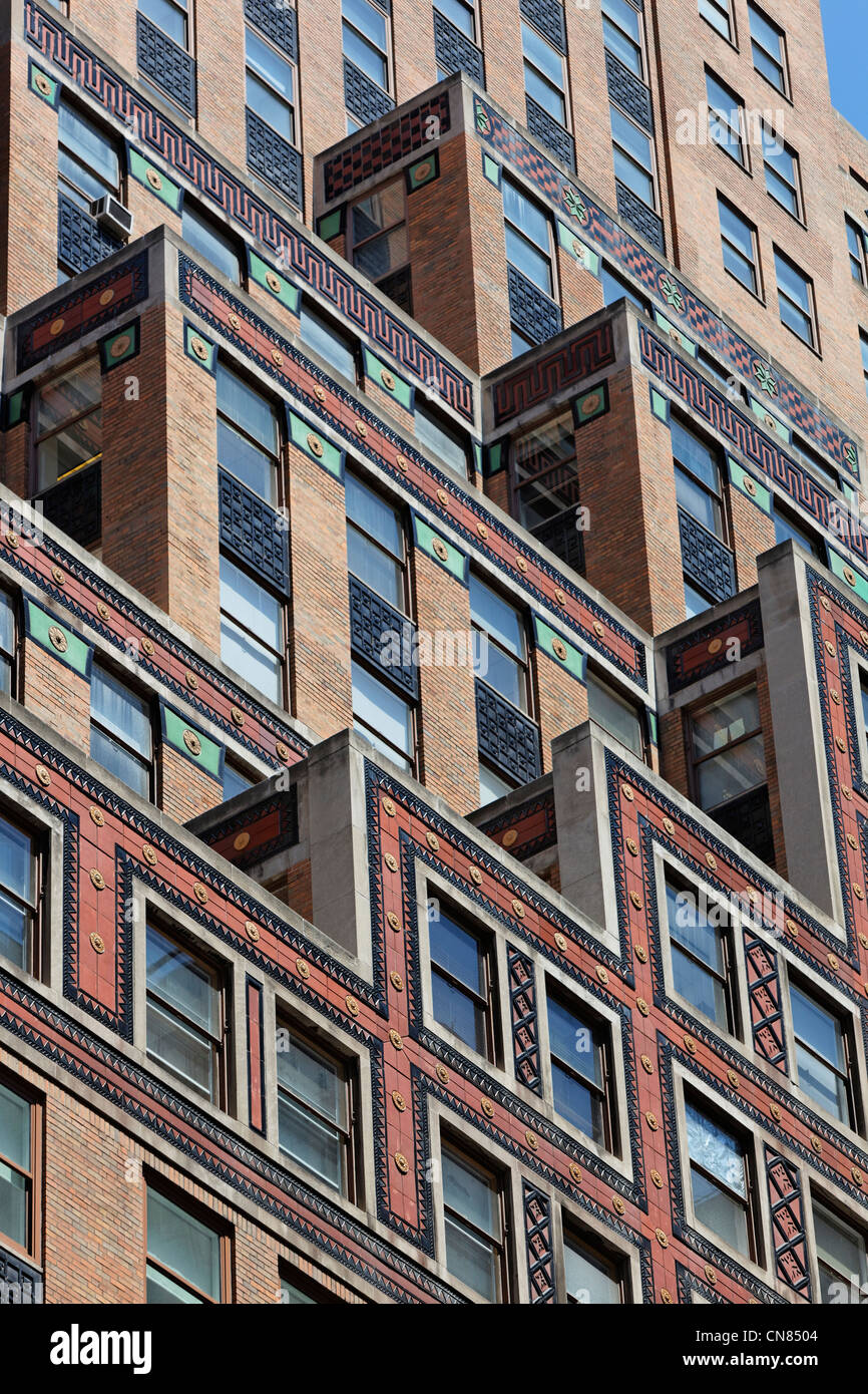 United States, New York, Manhattan, Midtown, 30s style building facade Photo Stock