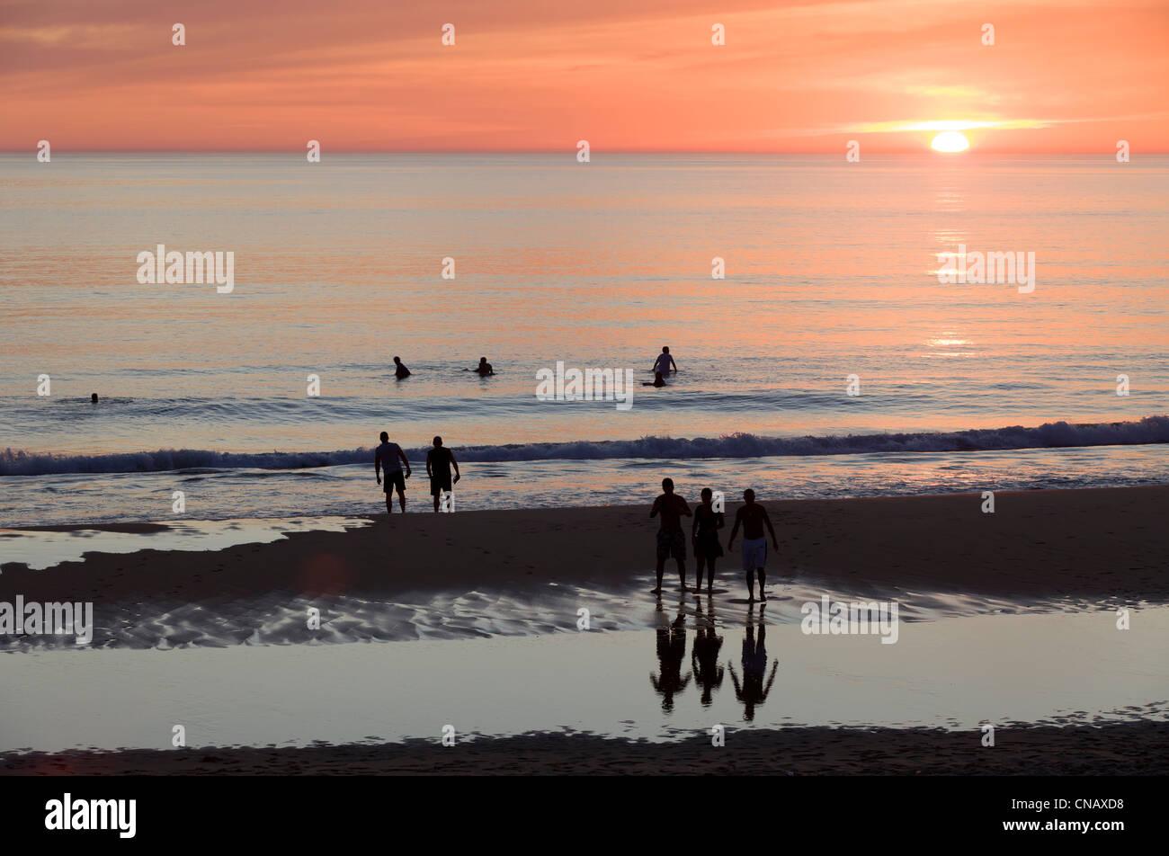 France, Landes, Biscarrosse, la plage Photo Stock