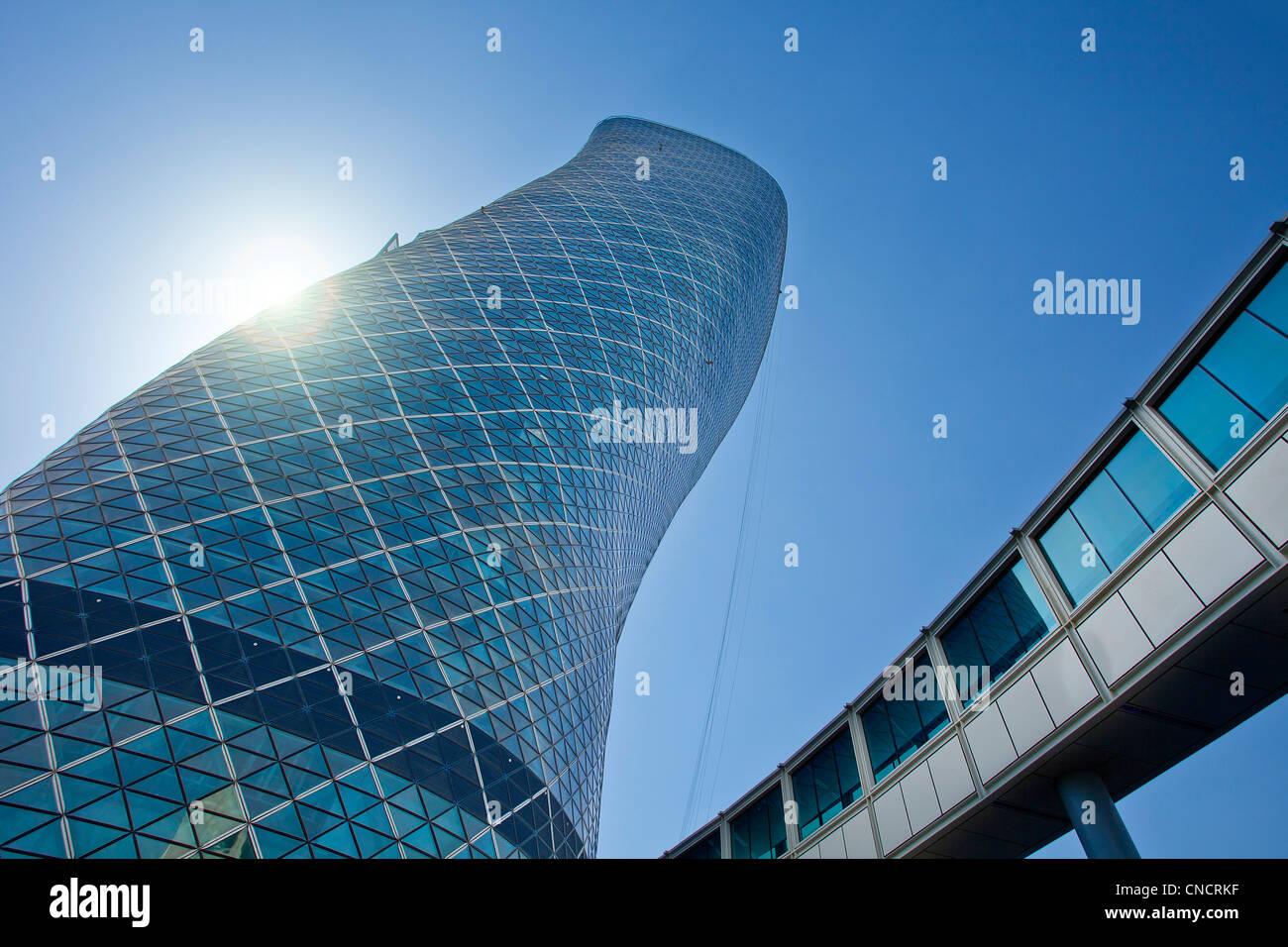 Abu Dhabi , Hyatt Capital gate Hotel Photo Stock