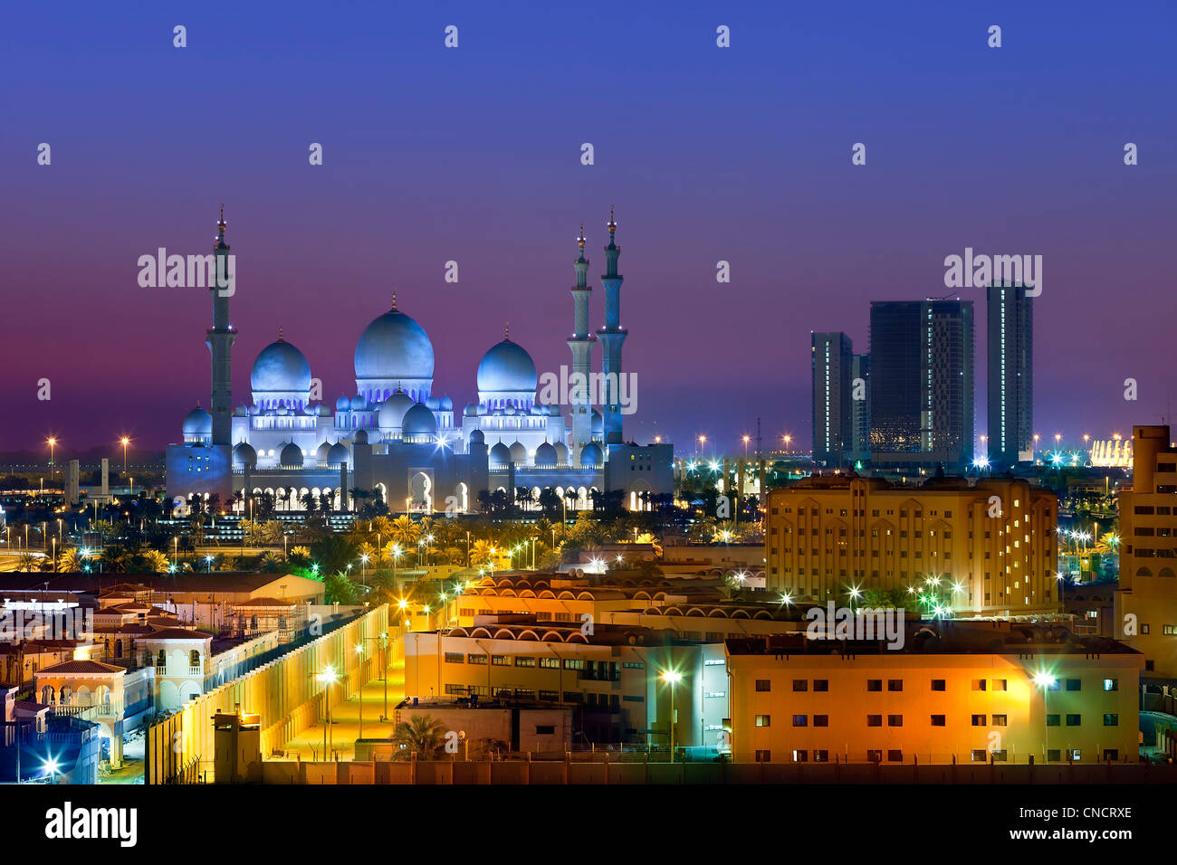 Abu Dhabi, du stade de Sheikh Zayed Mosque Photo Stock