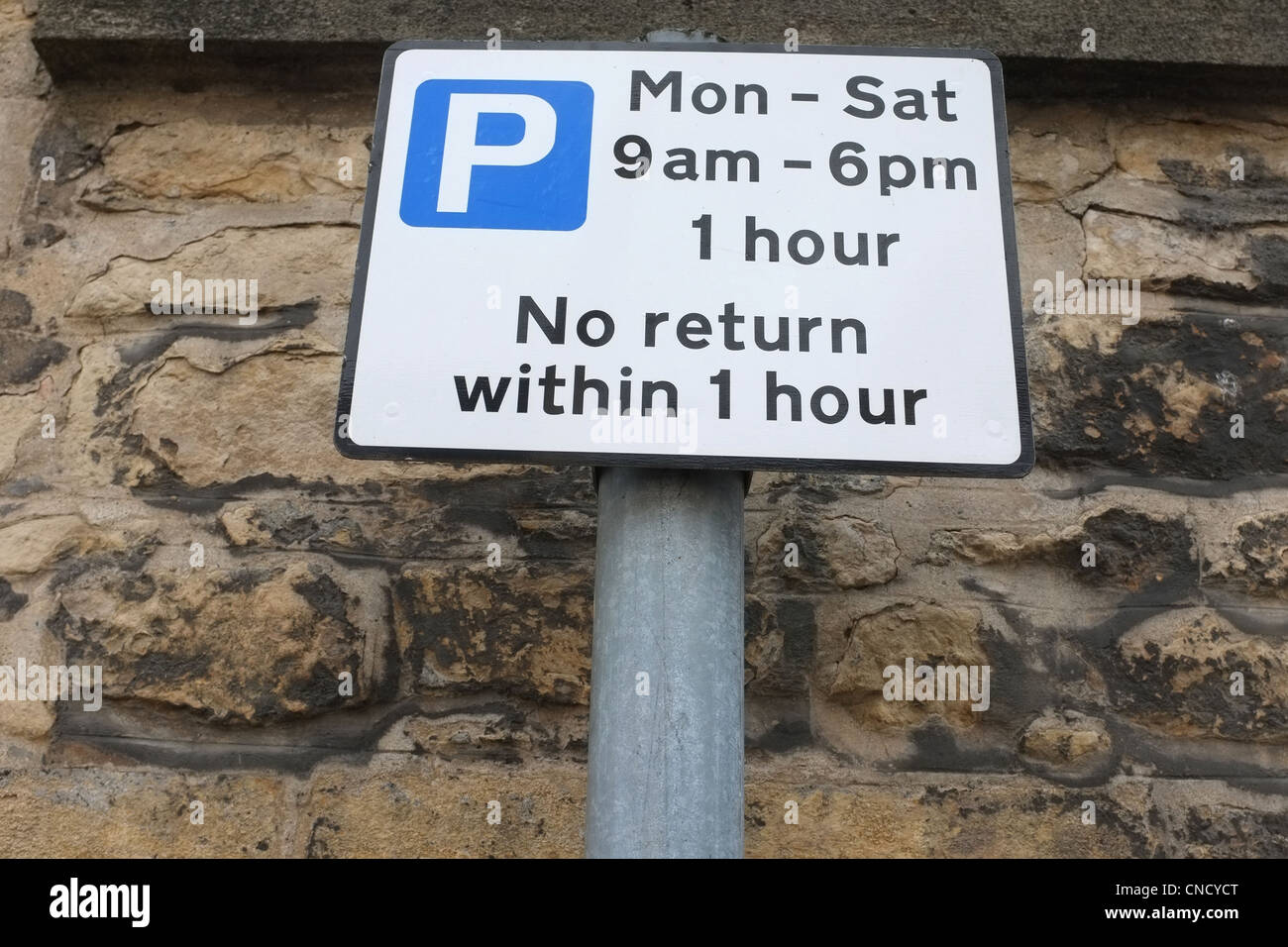 Signe de restriction de stationnement Photo Stock