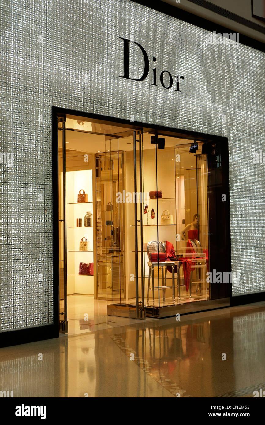 Entrée de la boutique Dior Photo Stock