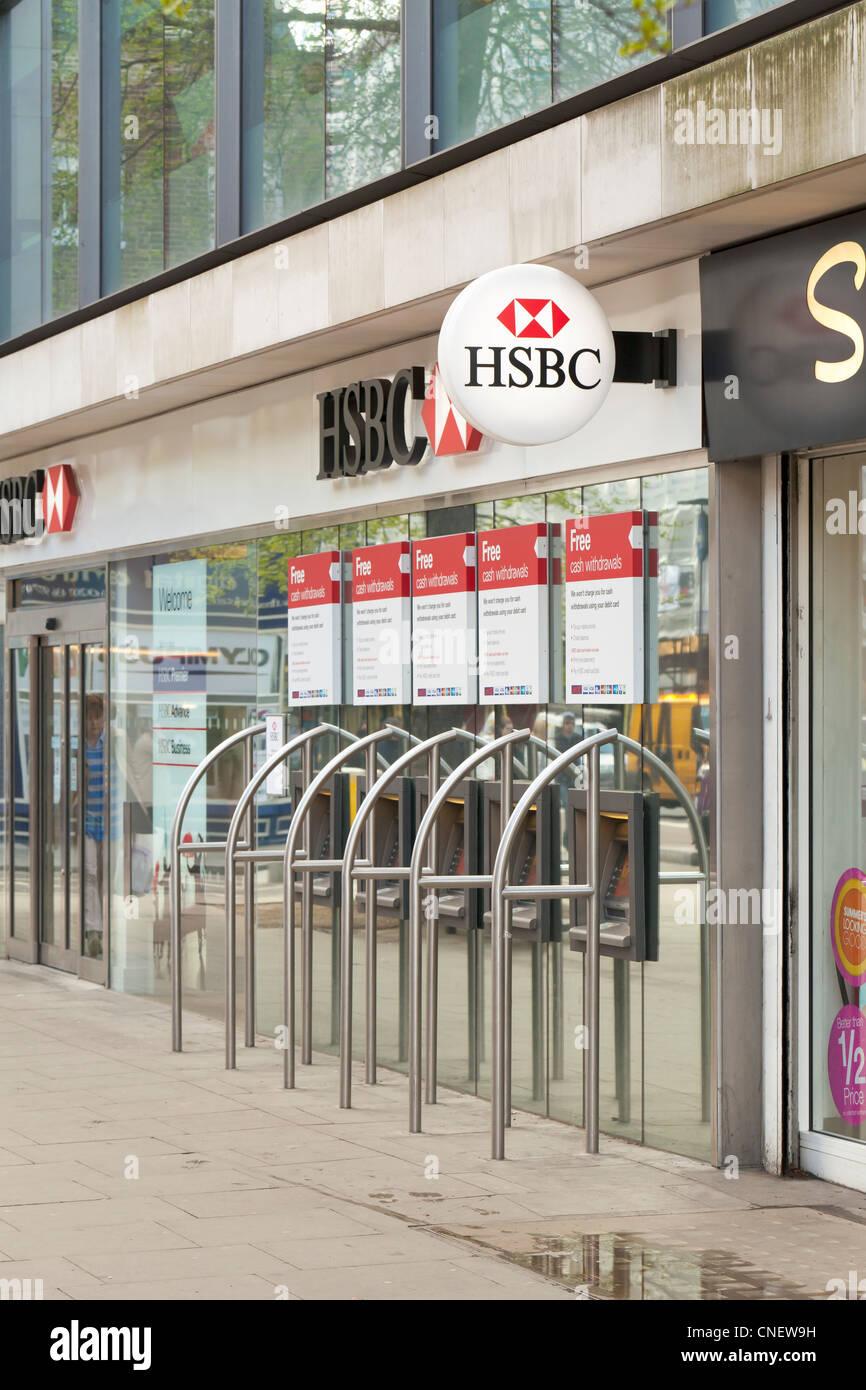 Le logo de la banque HSBC/signe, London, UK Photo Stock