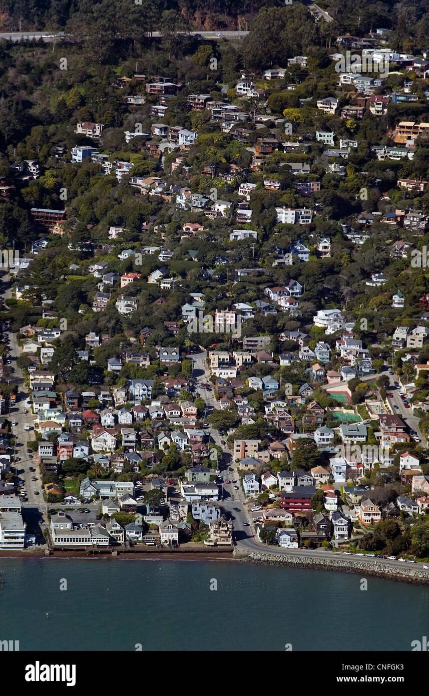 Photographie aérienne, Sausalito, comté de Marin, en Californie Photo Stock