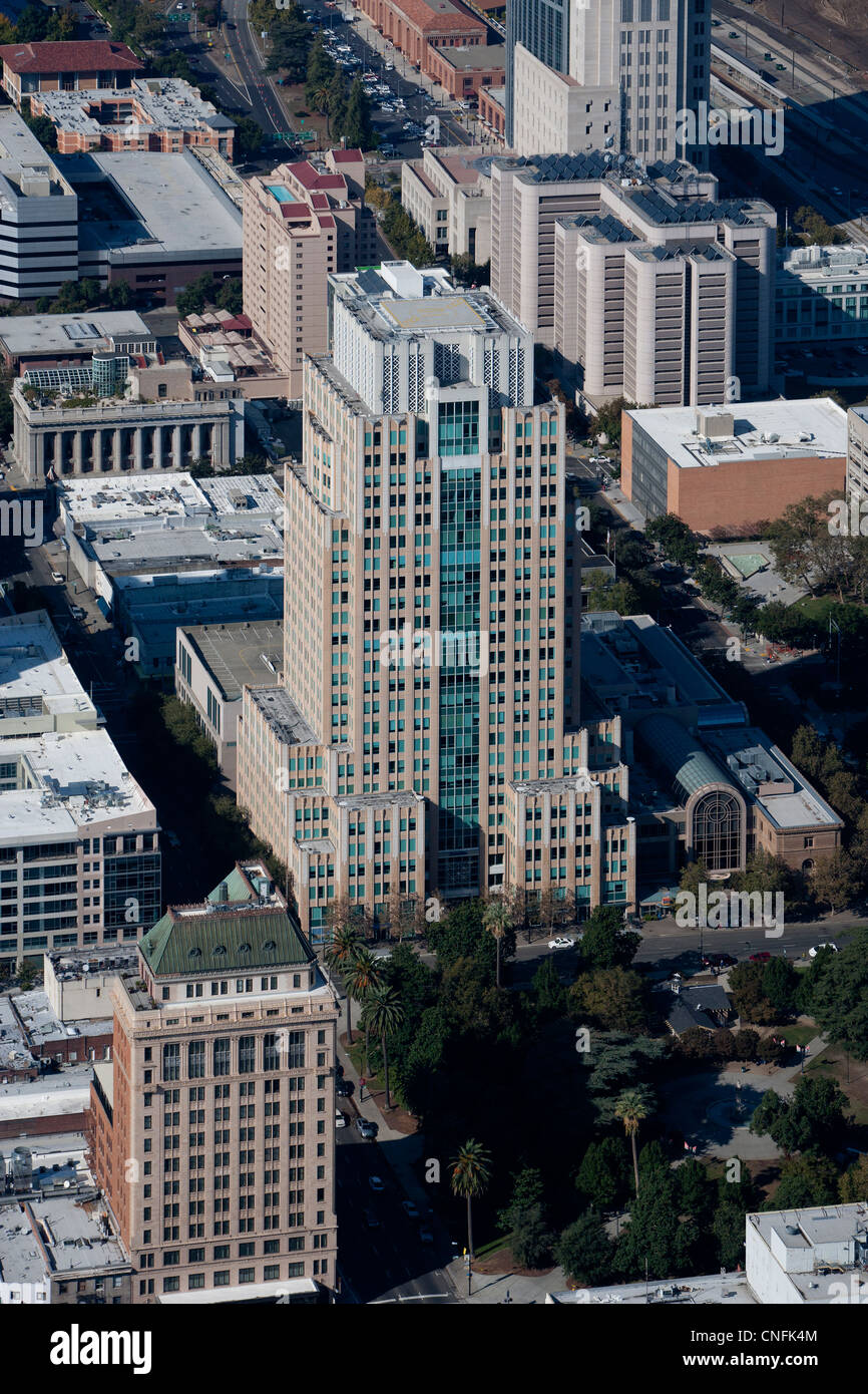 Photographie aérienne US Bank Plaza, Sacramento, Californie Photo Stock