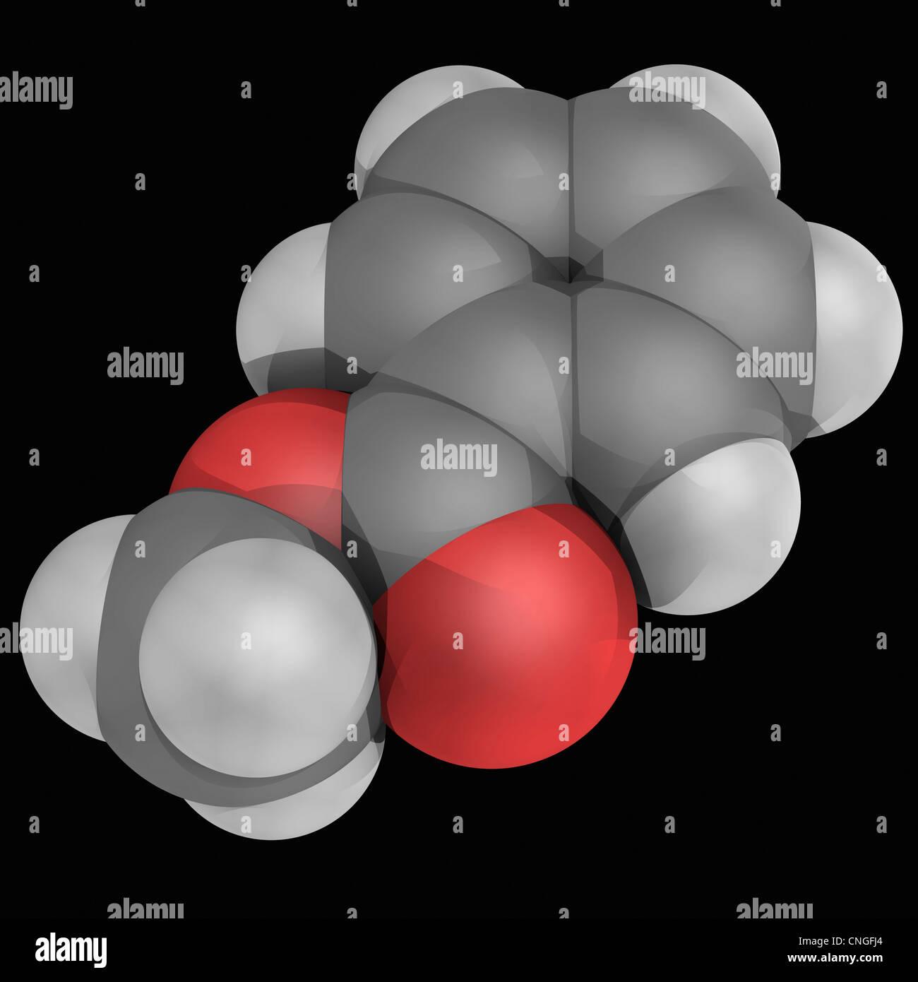 Molécule benzoate de méthyle Photo Stock