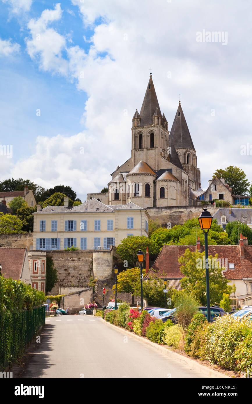 Église de St Ours, Loches, Pays de la Loire, France Photo Stock