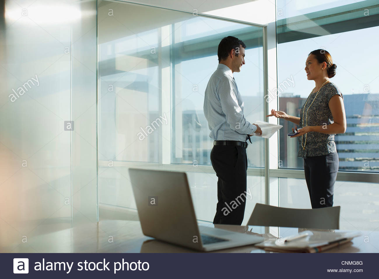 Business people talking in office Photo Stock