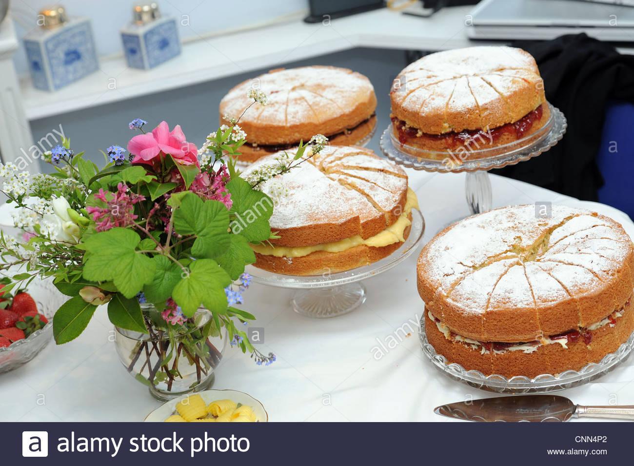 Gâteaux gâteau éponge uk Photo Stock