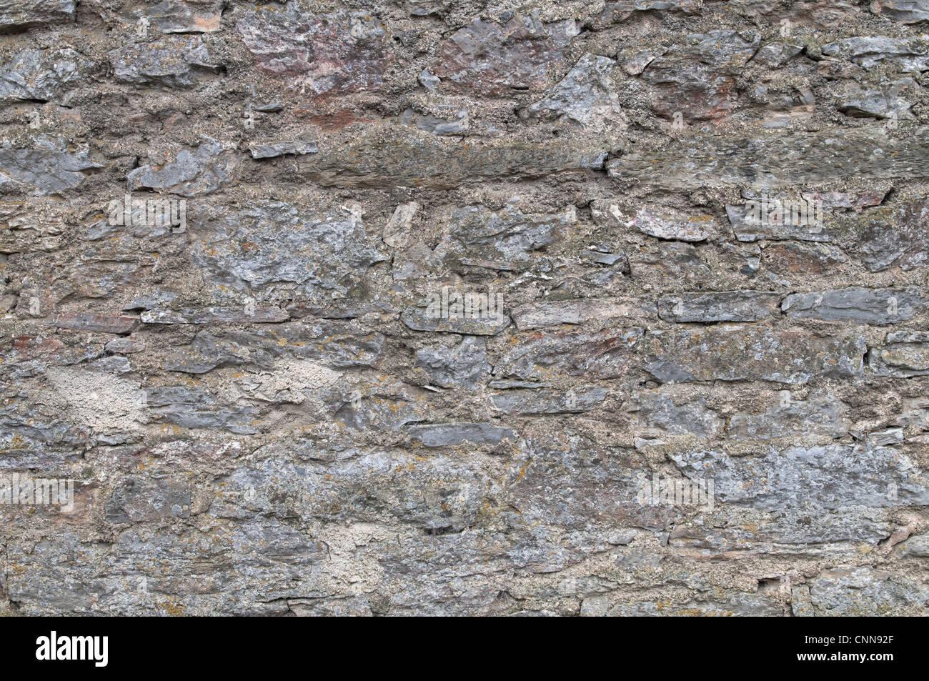 - Texture vieux mur de pierre. Banque D'Images